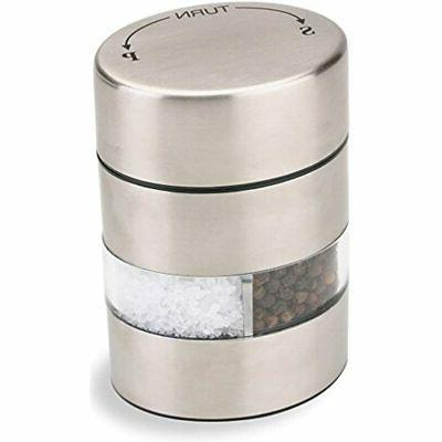 "Olde Thompson 4"" Stainless Steel Pepper Mill and Salt Mill 2"