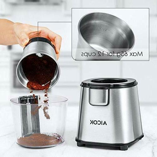 AICOK Powerful Blade & Spice Grinder