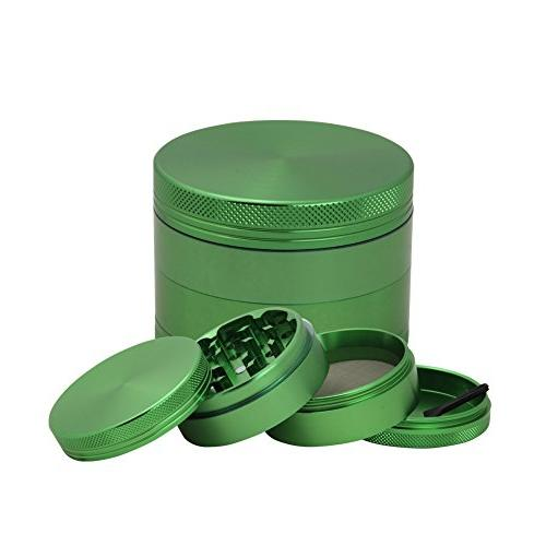 DCOU Aluminium Metal Spice with Catcher Scraper included Diameter 2 Green