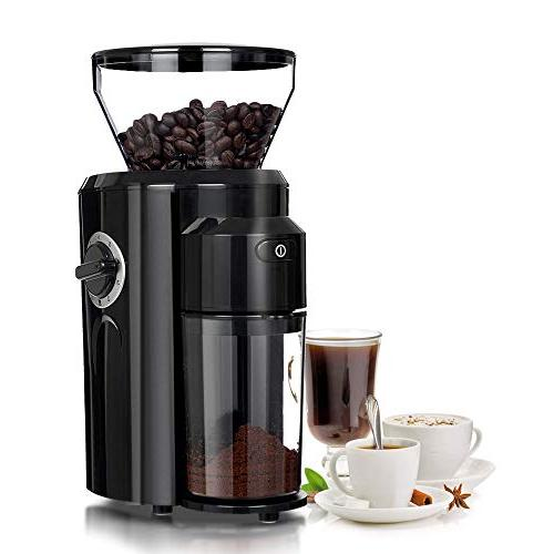 automatic conical burr coffee grinder