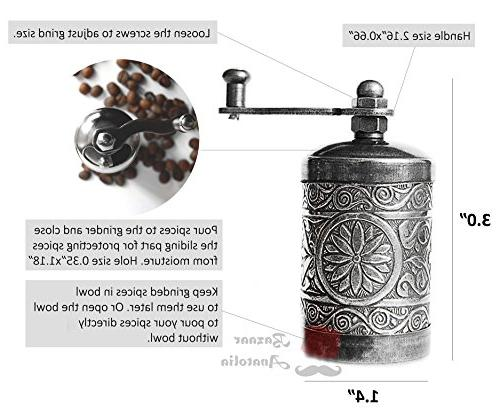 Turkish Grinder, Spice Grinder, Pepper Grinder, Mill