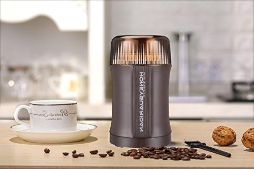 Coffee Electric & Spice 200W Stainless Steel Blade for Bean Herb Grinder, Activated Safety Year Warranty