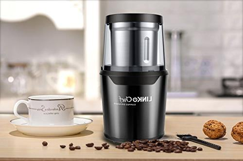 Coffee Grinder Nut 250W Large Detachable Stainless and Function - Black years warranty