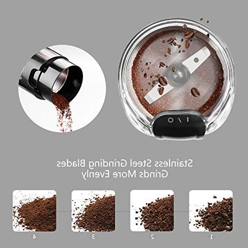 Coffee Electric One-Touch HyperGrind Steel Blades Large Upgrade also for Bean Spices Herbs