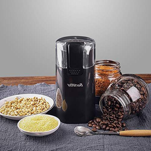 Coffee Grinder Electric One-Touch Stainless Steel with Large Grinding Capacity Upgrade Motor for Bean Herbs Nuts Grains