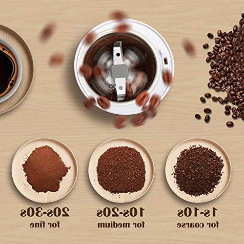 Veken Grinder Spice & Nut Grinder with Steel Grounds,