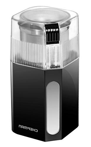Chefman Grinder 250 Watt Mill Freshly Grinds Beans, Easy One Operation, & Safe Stainless Grinding Cup &