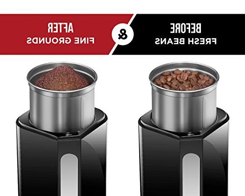 Chefman Grinder 250 Beans, Easy One Operation, Removable Safe Stainless Grinding Cup &
