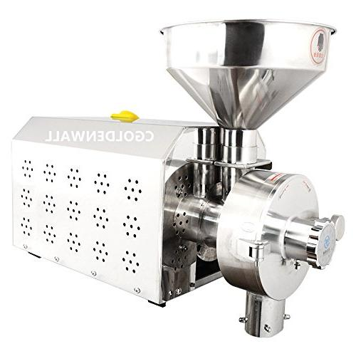 3.3KW Commercial Stainless steel grain mill Industrial Peppe Grain Spices Machine Grind Sticky oil 30-50kg/h
