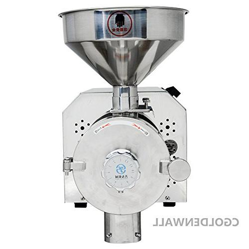 Commercial steel and Herb Grinder Industrial Electric Mill Grinding 15-50kg/h