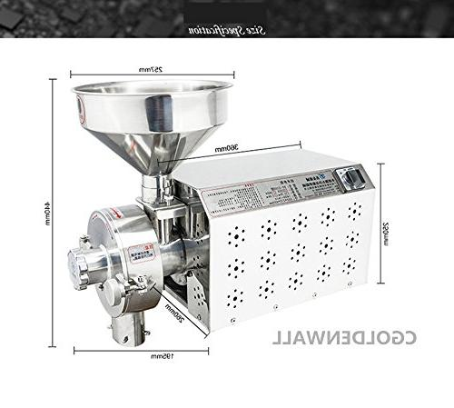 Commercial Stainless and Industrial Electric Mill Soybean Grinding Machine 15-50kg/h