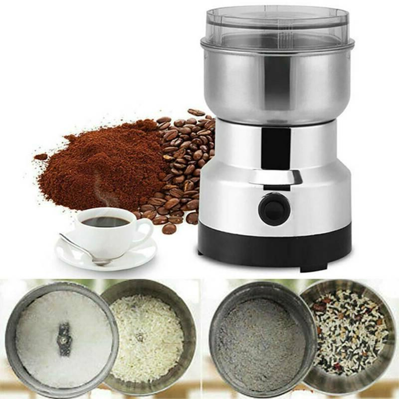 Electric Coffee Bean Stainless Steel Grinder Grinding Spice