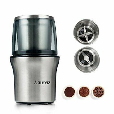 electric coffee grinder and spice grinder