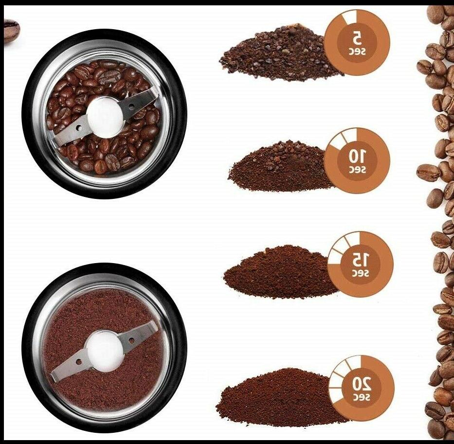 Electric Coffee Grinder Spice with Steel Blades
