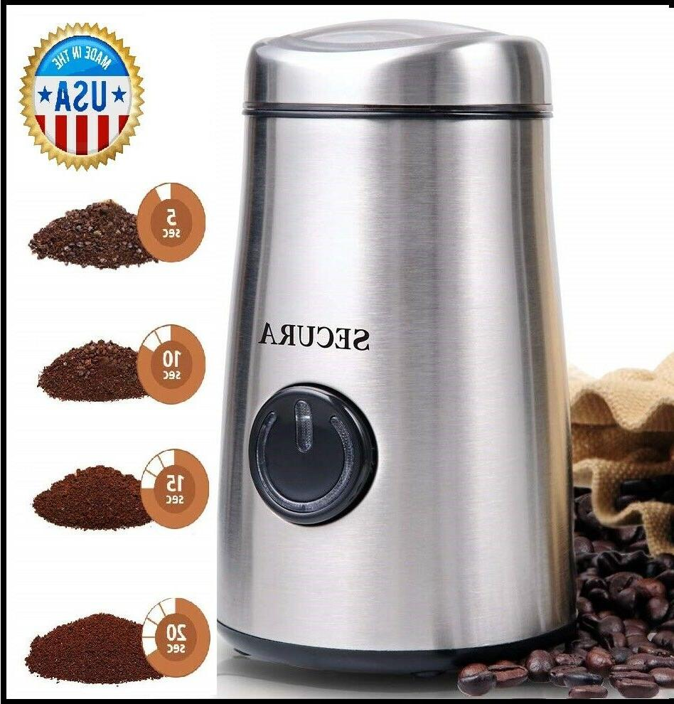 electric coffee grinder and spice with stainless