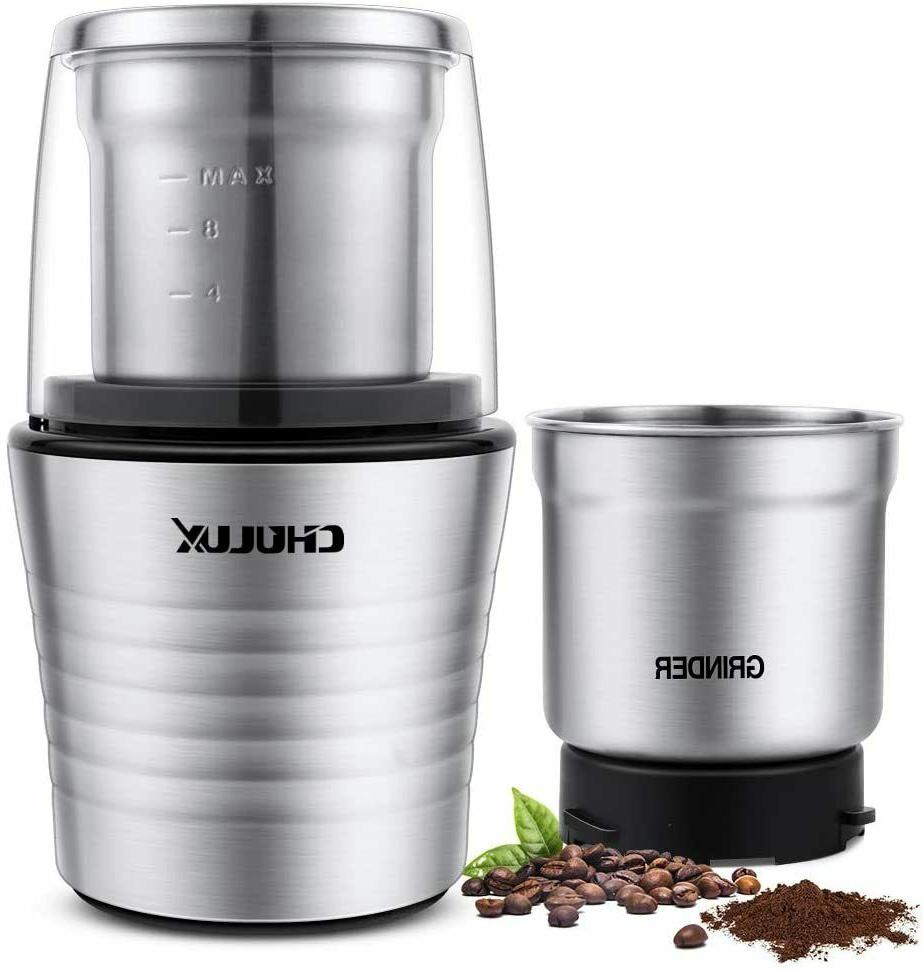 electric coffee grinder and spices with 2