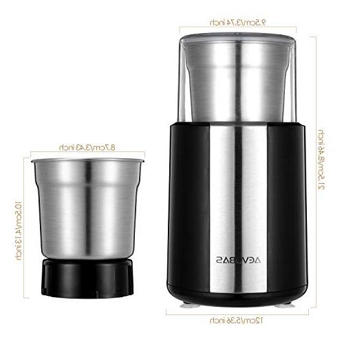 AEVOBAS Coffee Grinding Machine Blade Multifunction with A Coffee Cleaning Brush