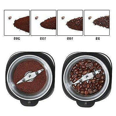 AICOK Electric Coffee Fast and Fine Fineness Coffee Blade Grinder with R