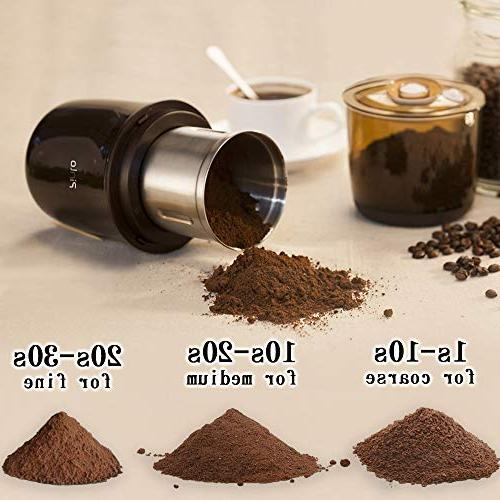 Electric Coffee Grinde Steel Powder Up 12 Cups Fast for Coffee Grains Home