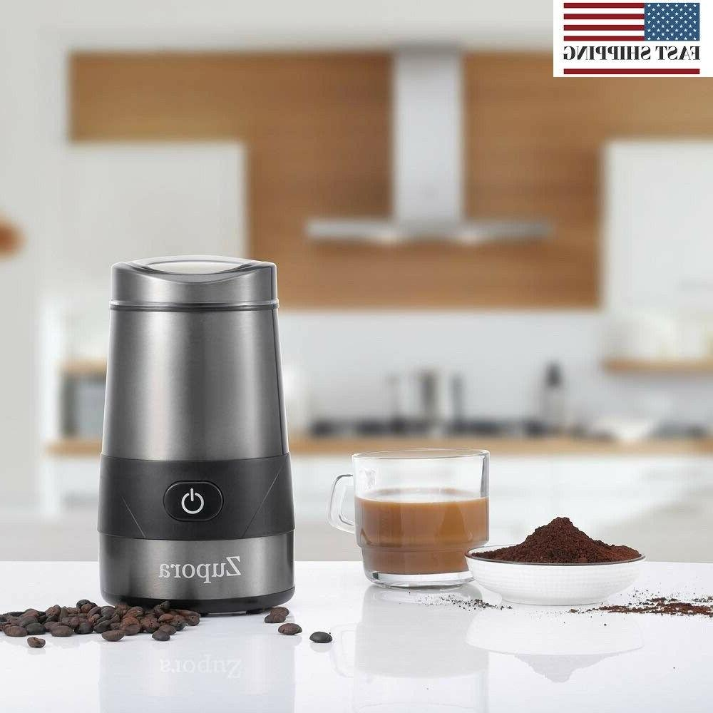 Electric Coffee Grinder, Spice and Stainless Steel