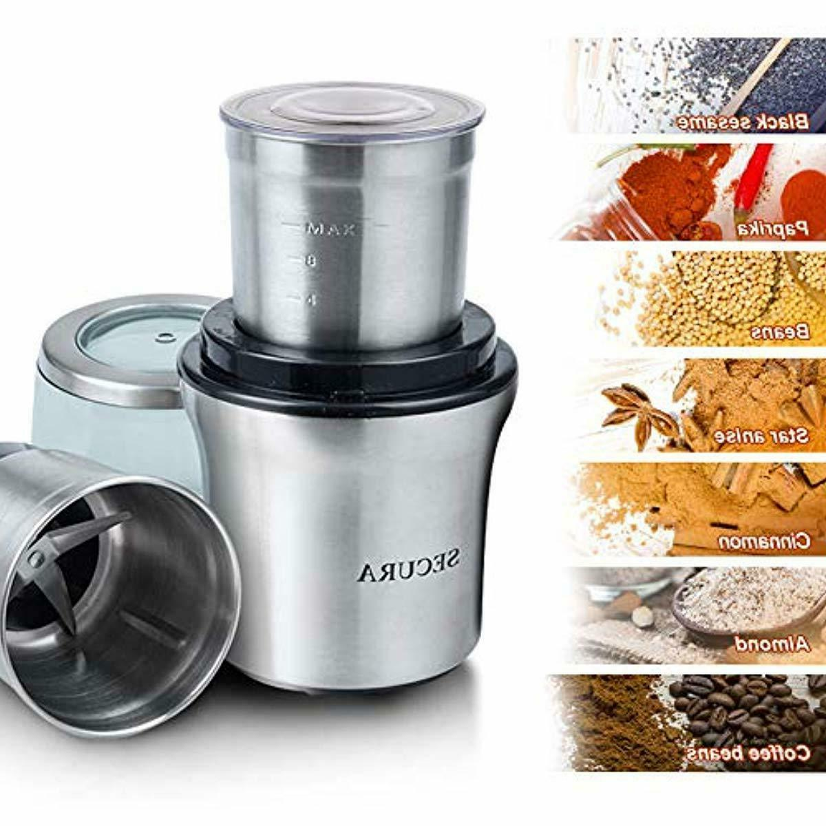 Secura Electric Spice with Stainless-Steel Rem