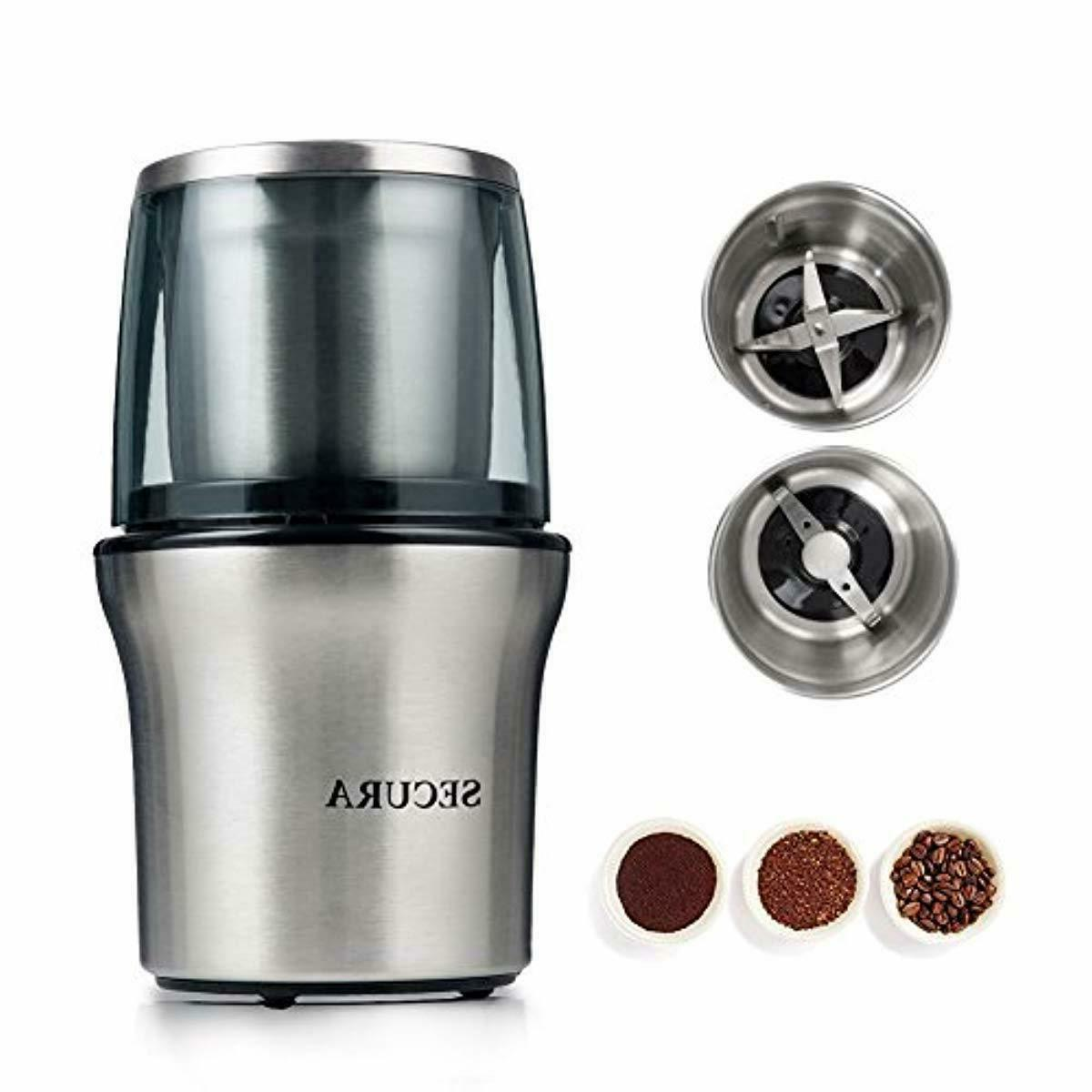 electric coffee grinder spice grinder with 2