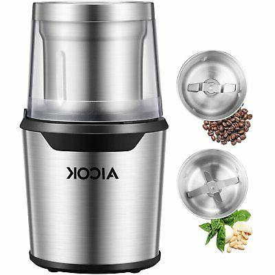 electric coffee grinder stainless steel