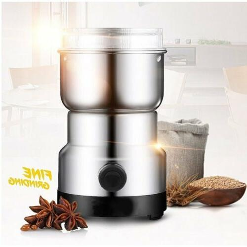 electric grinder coffee bean spice herbs mill