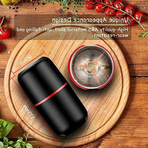 Electric Herb spice grinder with Steel Blades