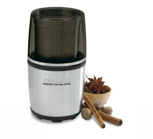 Cuisinart Electric Spice and Nut Grinder Stainless Black Non