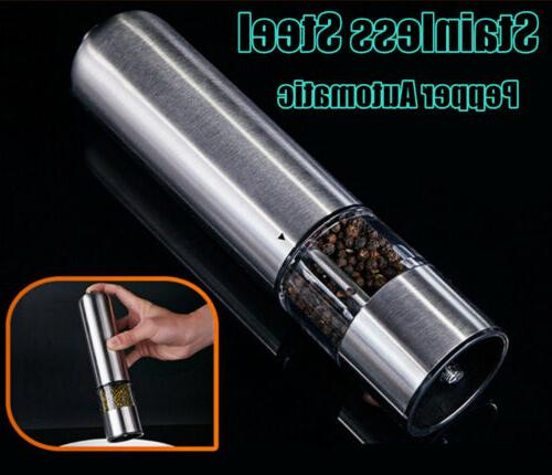 electric stainless steel cooking tool salt pepper