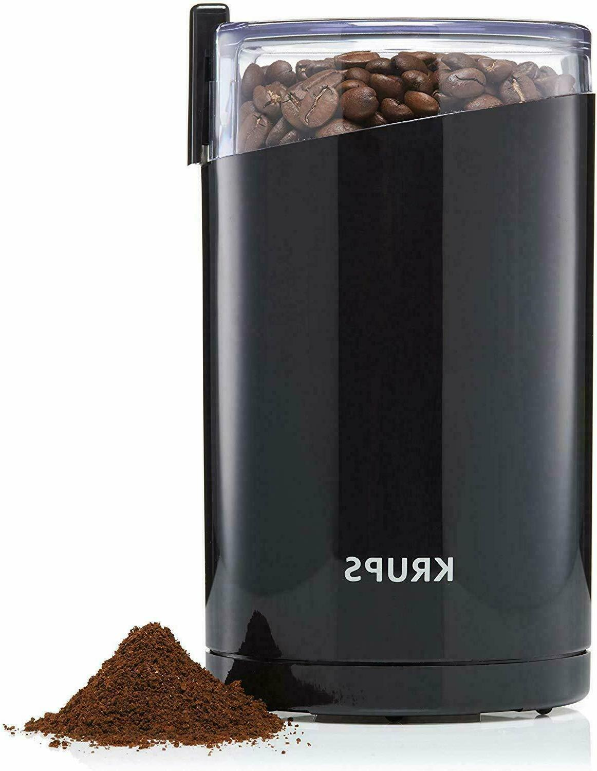 KRUPS F203 Electric Spice and Coffee Grinder with Stainless