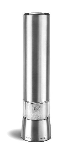 COLE & MASON Hampstead Electric Salt Grinder with LED Light