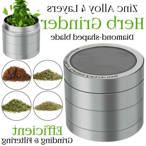 herb grinder crusher for tobacco 4 piece