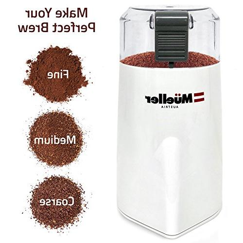 Mueller Coffee Grinder Large Capacity HD Motor also for and