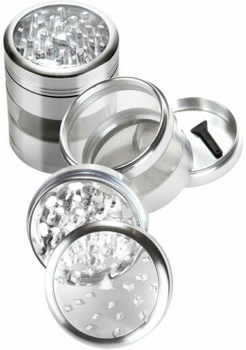 Zip Grinders Large Herb Grinder Four Piece with Pollen Catcher - 3.25 Inches