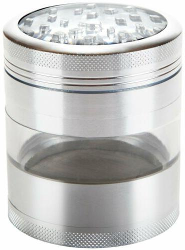 large herb grinder four piece with pollen