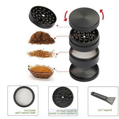 magnetic black tobacco herb grinder
