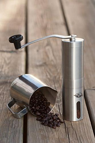 JavaPresse Manual Grinder, Stainless
