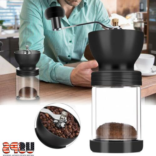 Mini Manual Coffee Mill Conical Burr Beans Spice