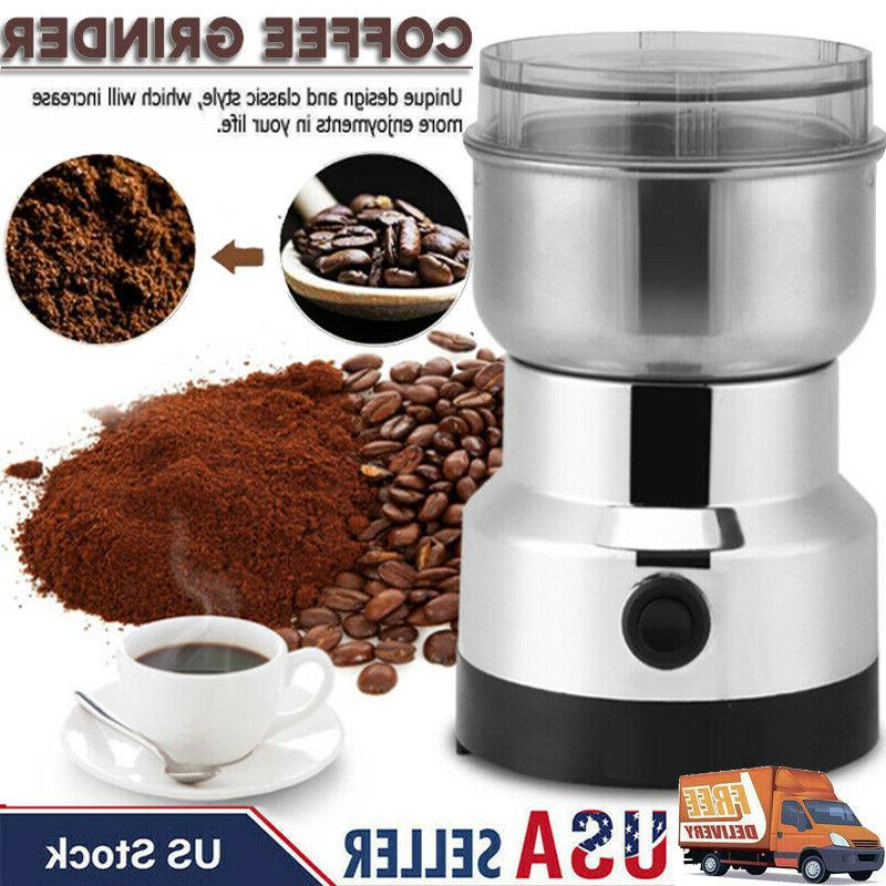 new electric coffee grinder 200w bean spice