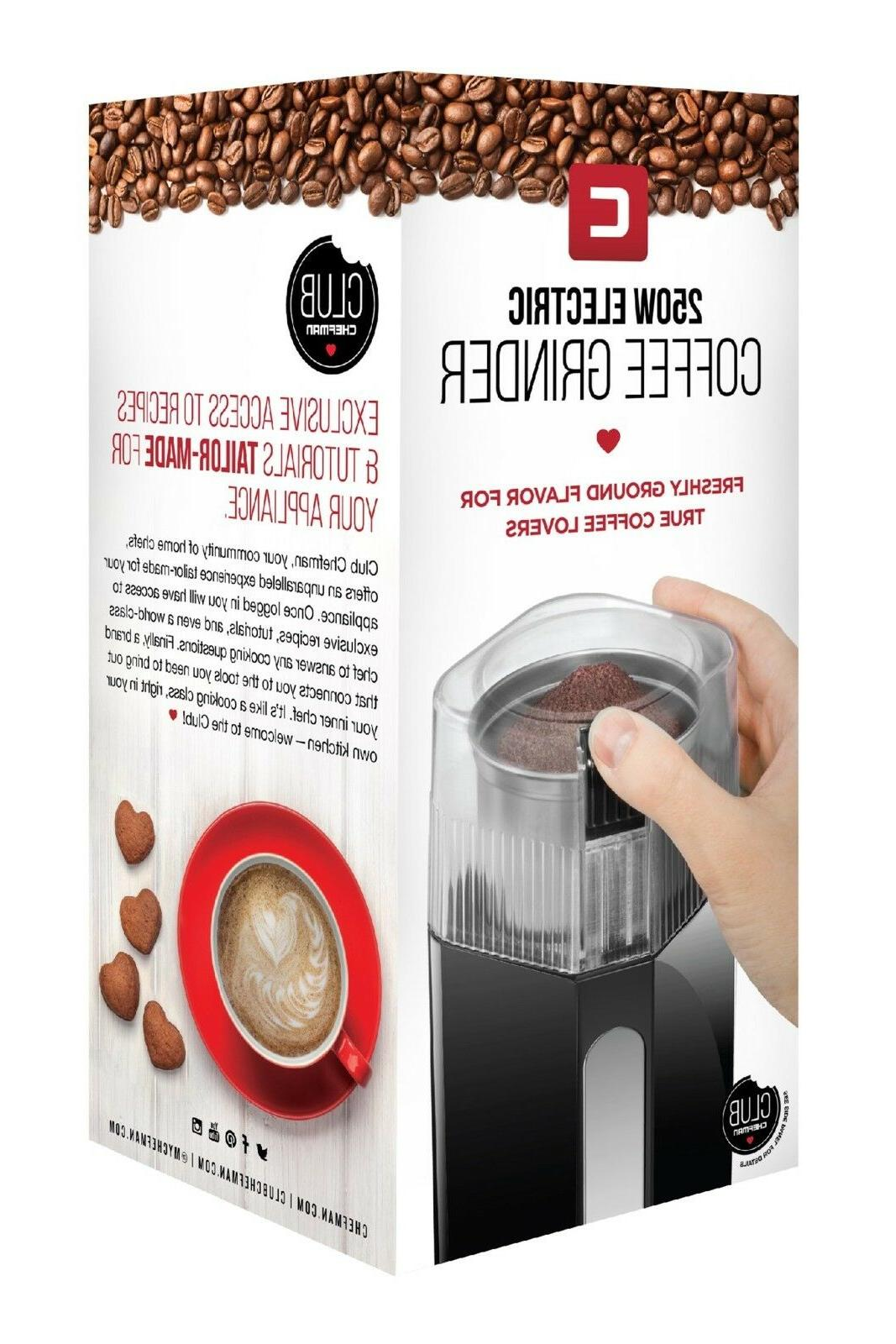 NEW Grinder with Stainless Coffee Beans oz