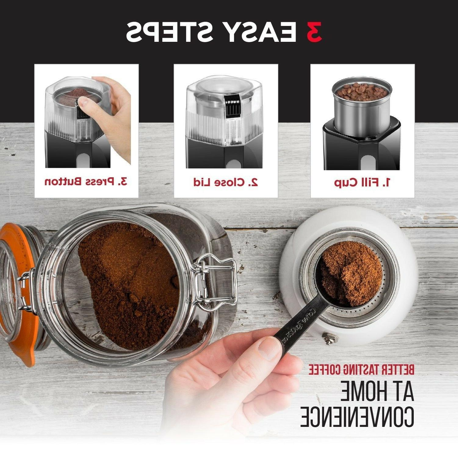 NEW with Stainless Steel Coffee Beans Spices oz