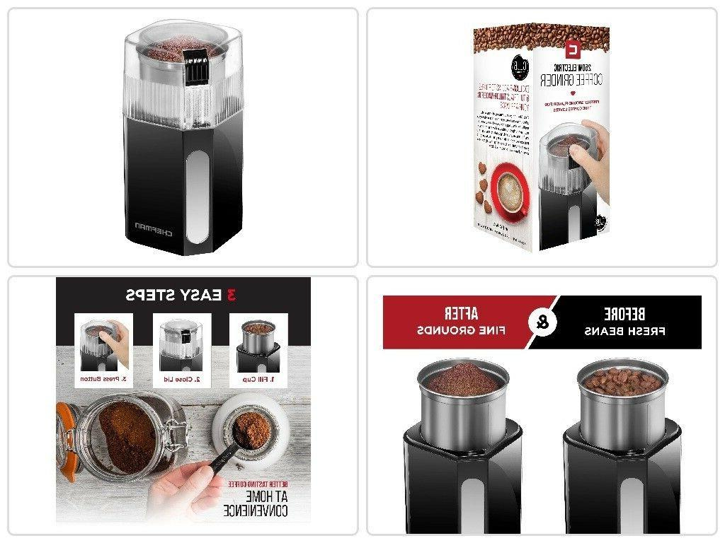 new electric grinder with stainless steel blades