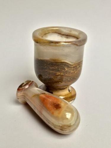 One Mortar And Pestle Onyx Salt Pepper &