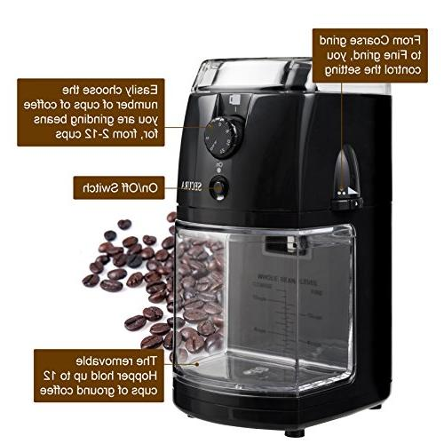 Secura SCG-903B Automatic Burr Coffee 2
