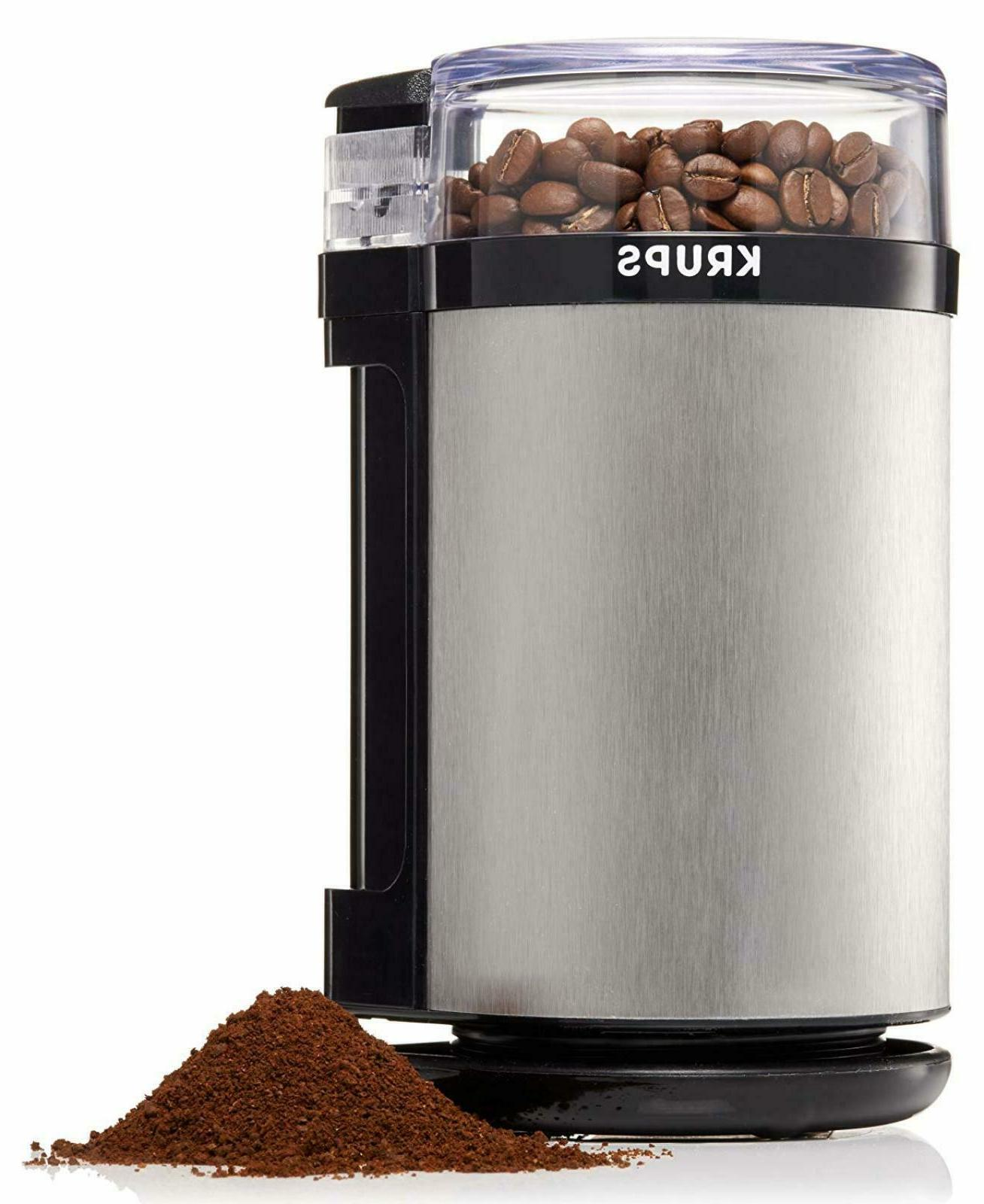 Spice Herb Coffee Electric Grinder Stainless Steel Safety Lo