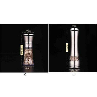 Stainless-Steel Muller Manual Pepper Salt Spice Mill Grinder