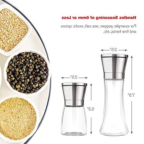 Professional Stainless and with Stand Manual Adjustable Grinding Level Grinders with Silicone Funnel