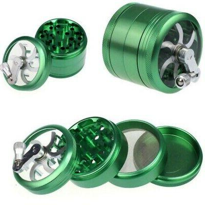 4 Layers Tobacco Spice Grinder Zinc Alloy Hand shake Crusher
